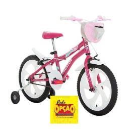 Título do anúncio: Bicicleta Tina Aro 16 Rosa Pink C/ Cesta Houston Bike Rede Opção Móveis