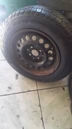 Peneu aro 14 com roda