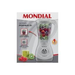 Liquidificador Mondial Power Branco 1,5L 2 Velocidades 500W 110v
