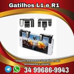 Gatilho Free Fire Botões R1 L1 Jogo De Tiro Para Celular