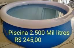 Piscina inflável 2.500 mil litros