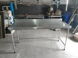 Título do anúncio: Mesa bancada em aço inox 430 de 1mm