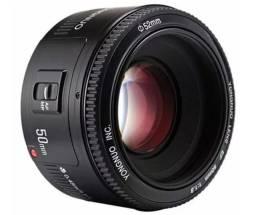 Lente Yongnuo 50mm F/1.8 Para Câmera Canon ou Nikon - Fotografia / Filmagem