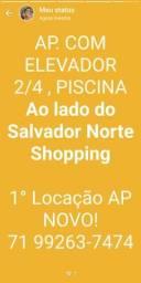 APARTAMENTO COM ELEVADOR ,2/4, Ao lado do Salvador Norte Shopping R$1.400,00