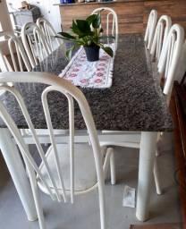 Mesa de Granito  2,20m com 8 cadeiras