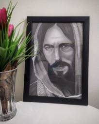 Quadro Jesus Cristo grafite