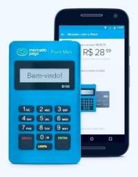 Título do anúncio: Maquininha mercado pago point Mimi crédito e débito Nova Lacrada