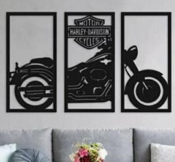 """Trio de quadros """"Harley-Davidson"""""""