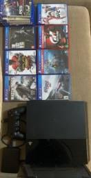 PlayStation 4 500 gb com jogos e hd externo