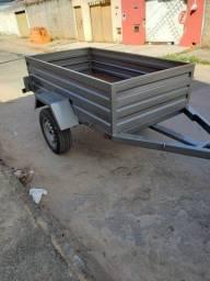 Carretinha usada para carro 2.10x1.26