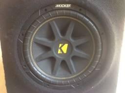 Caixa com Subwoofer Kicker Comp 12 Bobina Simples 4 Ohms 150w Rms