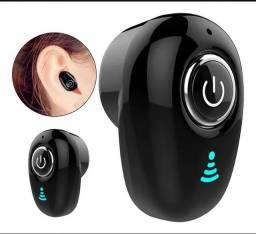 Mini fone de ouvido sem fio conecte se aí celular através de bluetooth