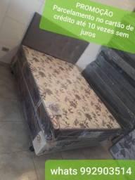 Cama box casal c/ colchão D65 novo # parcelamento 10x sem juros no cartão