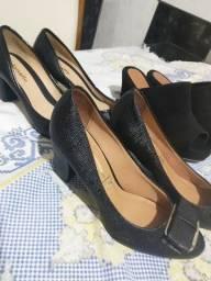 3 pares de sapatos praticamente novos,marca Vizzano Donalle e Macerata