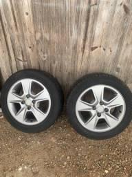 Par de rodas aro 15 com pneu