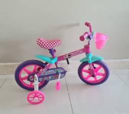 Bicicleta Infantil Caloi aro 12 Minnie Rosa usada em ótimo estado