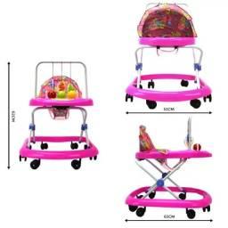 andadores infantis com mobiles rosa e azul