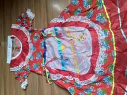 Vestidos juninos novos infantis! Nos tam 2/4 meses até 12 anos , ótimo valor aproveite !