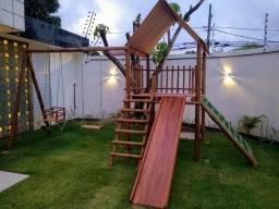 Parque casa do Tarzan. Playground em aucalipto.