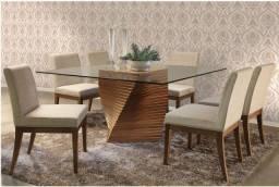 Título do anúncio: Mesa de jantar - 8 cadeiras