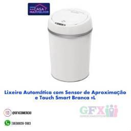 Lixeira automática c sensor de aproximação e touch smart 9l