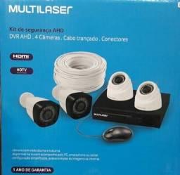 Kit De Segurança Cftv Dvr Ahd 4 Câmeras Se118sa -Multilaser