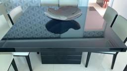 Título do anúncio: Mesa de Jantar 08 Lugares -  Laca e Vidro Alto Padrão - MBrasil