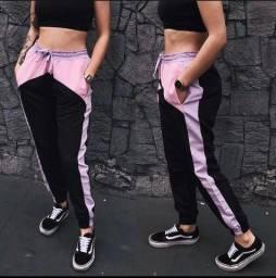 Calça Riot jogger tactel pink dink doo NOVA!