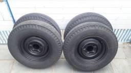 Jogo de rodas ato 16 d20 a20 c20 pneu pirelli