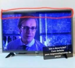 Tv lg 32 funcionando c defeito tela azul e faixa preta