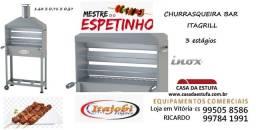 Título do anúncio: Churrasqueira Carrinho Espetinho Churrasco Coifa Inox Itajobi Carvão