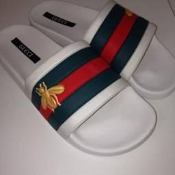 Sandalia Slide Gucci