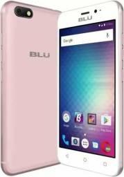 """Celular Blu GRAND mini 3G Dual Sim 4.5"""" 8GB Rose + capinha de silicone + pelicula"""
