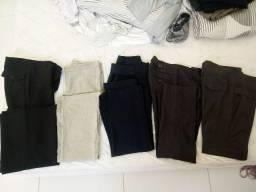 Kit com 9 calças tamanho 42 . novinhas