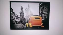 Quadro carro amarelo