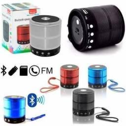 Caixa Som Bluetooth Mini Speaker Fm Ws887 Portátil