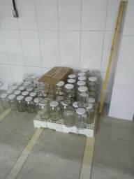 Vendo potes de vidro grandes com tampa