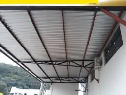 Cobertura - Telhado de metal semi novo