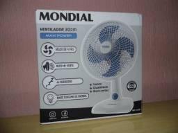 Ventilador Mondial 30cm 110v 3 velocidades 4 pás novo na caixa em P.Alegre-rs