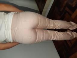 Calça nude/rosinha 38