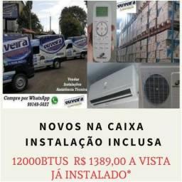 Ar condicionado split 9000 e 12000 btus Novos Já instalados A vista ou no cartão