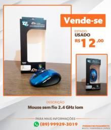 Mouse Sem Fio 2.4 Ghz Comfort 6 Botões Vermelho Metalizado E Preto