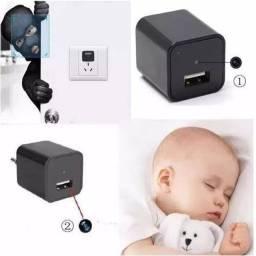 Mini câmera espiã no carregado USB cerve para casa apartamento trabalho