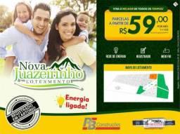 Terreno à venda, 160 m² por parcelas a partir de R$ 59,00 por mês - Loteamento Nova Juazei