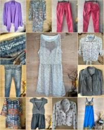 Lote roupas femininas ideal vestidos blusas
