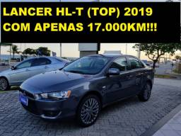Novíssimo Lancer 2.0 HL-T (TOP) CVT 2019 com apenas 17.000km!!! Oportunidade!