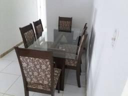 Mesa tampo de vidro com 6 cadeiras- Linhares-ES