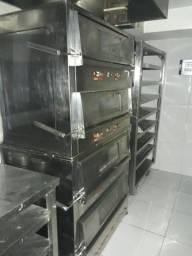Forno Industrial a Gás Metalmaq 80x75cm com 2 Câmaras