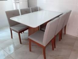 Mesa seis lugares nova completa pronta entrega