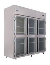 Camara frigorífica em inox e vidro